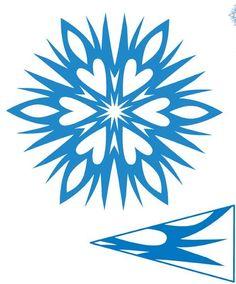 Sněhové vločky - vánoční vystřihovánky, vánoční dekorace, zdobení vánočního okna, vánoce, vánoční ozdoby, vánoční stromeček, vystřihovánky pro děti, vystřihovánky pro Mš