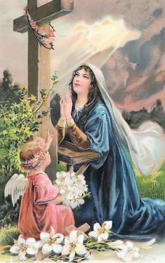 A Collection of Victorian Postcards Mother Of Christ, Blessed Mother Mary, Blessed Virgin Mary, Catholic Art, Catholic Saints, St Faustina Kowalska, Virgin Mary Art, Saint Philomena, Hail Holy Queen