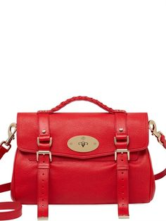 The perfect Valentine's Day bag - a red mulberry alexa satchel.