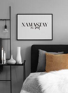 Namastay in bed Poster i gruppen Nyheter hos Desenio AB (2059)