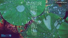 #adventuremayhurtyou #monotony # Instagram @martinhosner #followme