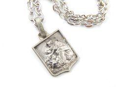 Saint Anthony Necklace - Catholic Medal - Religious Charm Jewelry - Catholic Medal - Patron St of Lost - Catholic Necklace - 5 by AveMariaTreasures on Etsy