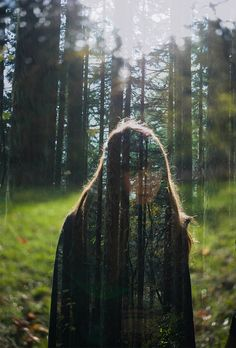 Girl and trees by Nathan Bobey