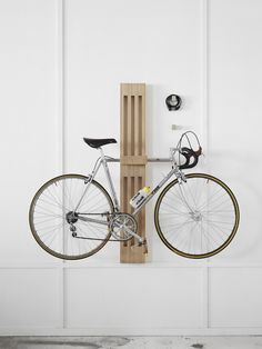 Bike Rest © Work Shop Objects. Wall mounted cyclists storage solution. The perfect way to display your bike; suitable for both at home and in the office. The timber plywood is Australian sourced and FSC (Forest Stewardship Council) certified and finished in a clear bees wax. Australia Hardwood versions to match your office interior fit out is available by special order. Available from http://www.work-shop.net.au/collections/work-shop-rest/products/bike-rest