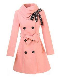 cute pink coat!