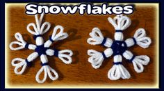 Easy Snowflake Christmas Ornaments - Loom Knitting