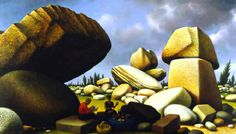 peter blume images | Peter Blume, Study for the Boulders of Avila