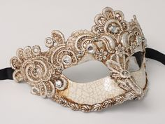 masquerade+masks | Masquerade mask for a lady in silver lace. - Masquerade masks
