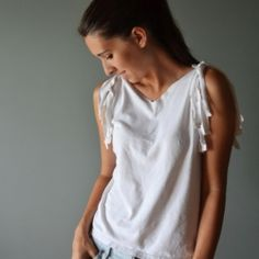 A quick and easy way to spruce up an old tee!