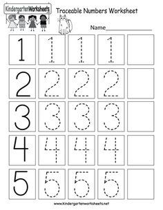 Traceable Numbers Worksheet – Free Kindergarten Math Worksheet for Kids Traceable Numbers Worksheet – Free Kindergarten Math Worksheet for Kids