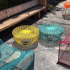 """Happy Monday!  Yes, we are that excited about Monday.  Mainly because we just got in a very limited run of our Drum Side Table in an amazing shade of aqua blue.  Get 'em while they last!  #BendGoods #aqua #drumtable #limitededition #outdoor #furniture #interiordesign #popofcolor #summertime"" Photo taken by @bendgoods on Instagram, pinned via the InstaPin iOS App! http://www.instapinapp.com (06/08/2015)"