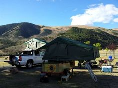 How about a two-bedroom Tent Topped, Compact Camping setup for those that have larger family's?