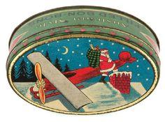 Woolworth's Bon Bon Candy Santa Tin...