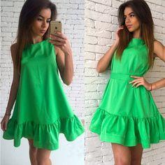 2017 Women's Vestidos Sexy Ruffles Dress Summer Sleeveless Casual A Line Bodycon Dress Women Party Plus Size Short Mini Dresses   #fashion #thoughtproducts #discounts