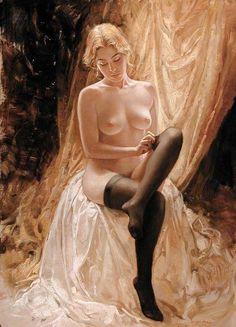 Bruno Di Maio 1944   Italian Surrealist Figurative painter by carole