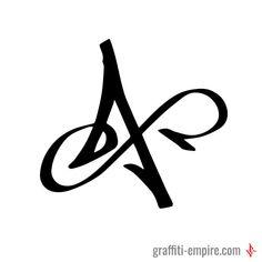 X Graffiti Tag Letter