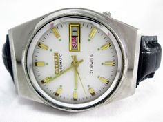 VINTAGE GENTS CITIZEN AUTOMATIC DAY-DATE 21 JEWELS MENS WRIST WATCH RUN ORDER #CITIZEN #Casual