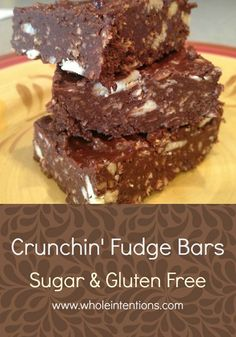 Crunchin' Fudge Bars - Whole Intentions
