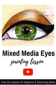 Learn how to paint GORGEOUS EYES for the bizarre girls your mixed . Learn how to paint GORGEOUS EYES for the bizarre girls who fill your mixed you …- # eyes Mixed Media Faces, Mixed Media Art, Karen Campbell, Online Art Classes, Art Journal Inspiration, Journal Ideas, Gorgeous Eyes, Eye Art, Learn To Paint
