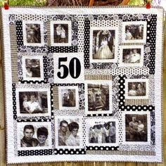 Browse the amazing collection of DIY Photo Quilt Patterns, Designs, Ideas and learn how to make handmade quilts with photos in some steps! Panel Quilts, Quilt Blocks, Foto Quilts, 50 Wedding Anniversary Gifts, Anniversary Pictures, 50th Anniversary, Memory Crafts, Sampler Quilts, Photo Memories