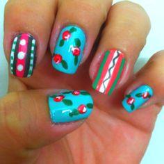 Spring Has Sprung nail design  By: Michelle Reckelhoff