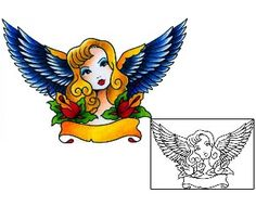 Traditional Tattoos BKF-00192 Created by Captain Black