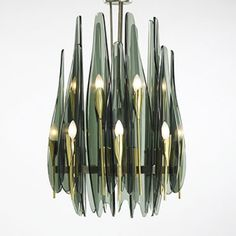 Max Ingrand for Fontana Arte c. Ceiling Lamp, Chandelier Lighting, Interior Lighting, Crystal Decor, Chandeliers And Pendants, Chandelier, Blown Glass Lighting, Vintage Mid Century Lamps, Glass Lighting