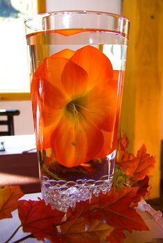 Wedding, Centerpiece, Red, Orange