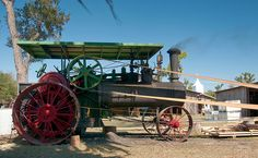 1909 Case Steam Engine Tractor - photo by Timothy Wildey . Case Tractors, Old Tractors, Tractor Photos, Steam Tractor, Antique Tractors, Vintage Farm, Steam Engine, Heavy Equipment, Wisconsin