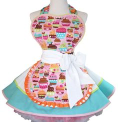 Retro Diner Apron Cupcakes One of a Kind  Pin Up by WellLaDiDa, $50.00