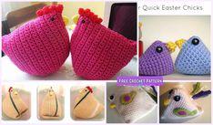 Crochet Chicken Critter Toy Free Patterns: Crochet Easter Chicks, Easter chicken plushies, doorstop, kids gift