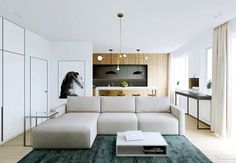 Relaxing Color Schemes In 3 Efficient Single-Bedroom Apartments [With Floor Plans]