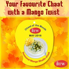 The Chaat of the Month is Here! Enjoy Seasonal Mango Bhalla Chaat at BTW Outlets. #BTW #Chat #lunch #indianfood #mangochaat #yum #littletreat #summerfood #streetfood #livingforlove  #delicious #iloveit  #cheatmeal  #powerfoodies #food #foodporn  #happyfood #yumyum #healthier  #cleaneating  #heatquencher #YummyMonday #Mondaymotivation