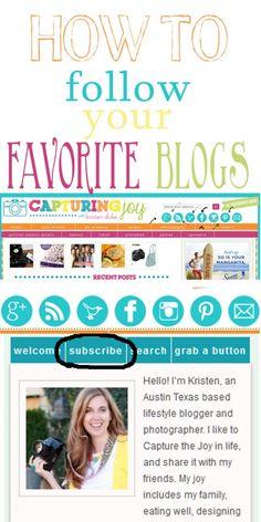 How to follow your favorite blogs #facebook #pinterest