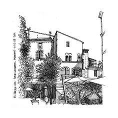 Place Gambetta à Pézenas