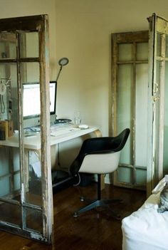 Creating work spaces with recycled doors ... Very doable!