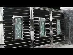 Modern Front Gate Design, Iron Main Gate Design, Home Gate Design, Gate Wall Design, Grill Gate Design, Gate Designs Modern, House Main Gates Design, Main Door Design, Modern Gates