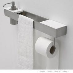 antoniolupi TAPE5 holder for tumbler or soap dispenser 135 x 80 x 12 mm