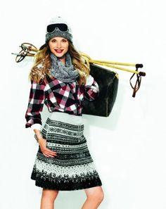 Knit A-line skirt 10/2011 #104