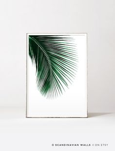 Digital Download Art// PALM LEAF I  Welcome to SCANDINAVIAN WALLS!  △ BUY 2 GET 4 PRINTS! - Select 4 prints in your cart - pay only for 2! - get 50% OFF - Use code: HALFPRICE △  Scandinavian Walls accept all major credit cards through Paypal. You do NOT have to have a Paypal account to purchase from my shop.  Print out the art on your printer at home, or use a local or online printshop, and decorate your walls in the minimalistic style Scandinavia is known for. It is a unique, beau...