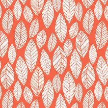 3 Wishes Coral Summer Skies Leaves Quilting Print Cotton