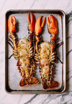 Baked Stuffed Lobster with Shrimp makes a big statement for a special celebration. This lobster with herbs, buttery bread crumbs & shrimp won't disappoint. Lobster Recipes, Seafood Recipes, Brunch Recipes, Baked Stuffed Lobster, Wok Of Life, Romantic Meals, Shrimp, Prawn, Recipes