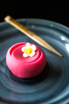 Winter wagashi. Wagashi are delicately small sweets used only in Chanoyù, the Tea Ceremony, a very old traditional Japanese Art deriving from Buddists Monks ceremony (http://en.wikipedia.org/wiki/Chanoyu) via 写真 (shashin) in love.