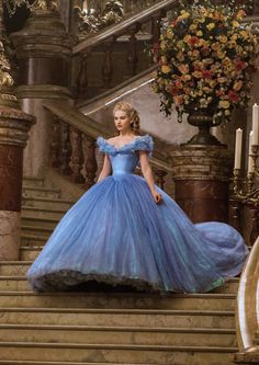 Cinderella Gowns💙✨ - - - - - - - - by Book📖❣️ Cinderella Gowns, Cinderella Movie, Cinderella 2015, Cinderella Live Action, Quince Dresses, Ball Dresses, Ball Gowns, Prom Dresses, Flapper Dresses