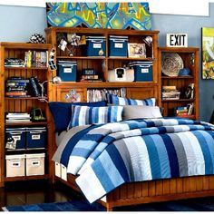 These bedside shelves... Teen boys bedroom ideas