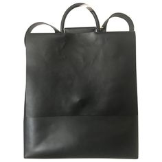 Pre-Owned Building Block Black Leather Backpack Leather Backpacks, Black Leather Backpack, Building, Bags, Shopping, Women, Style, Handbags, Swag