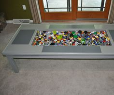 Finding the perfect Lego storage/play area is not easy. I could not find anything that fit my needs so I created my own Lego table for both creativity and containment.