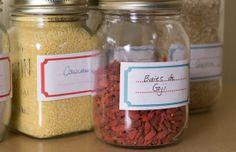 Printables - Mason jar labels @camillebrunelle