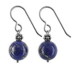 Lapis Lazuli Natural Gemstone Sterling Silver Handmade Earrings by ASHANTI ** Click on the image for additional details.-It is an affiliate link to Amazon. #WeddingEarrings