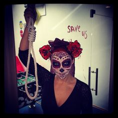Boo! From #comboappoffice! We are so ready for the most terrifying Halloween! Muahahahah! #Halloween #bodyart #dayofthedead #makeup #girl #scary #sugarscull #artvisage #interior #spooky #horror #comboapp #agency